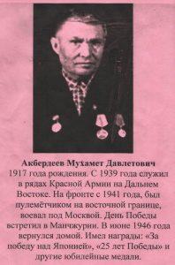 Акбердеев Мухамет Давлетович