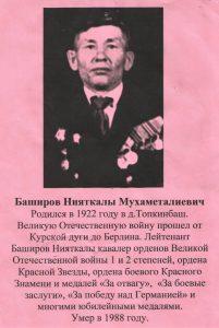 Баширов Нияткалы Мухаметалиевич