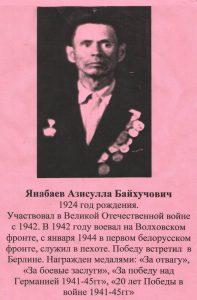 Янабаев Азисулла Байхучович