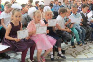 Самые юные участники акции  п. Прииртышский