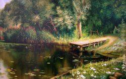 Заросший пруд Поленов