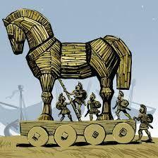 фразеологизм, троянский конь