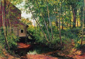 """""""Мельница в лесу. Преображенское"""", 1897"""