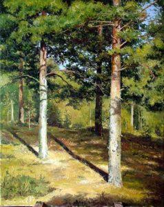 Сосны, освещенные солнцем, 1886
